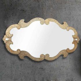 Elodie, miroir salle de bain 150x85 cm, granité or/ argent