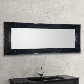 Valérie, miroir salle de bain 168x73 cm, cadre verre noir
