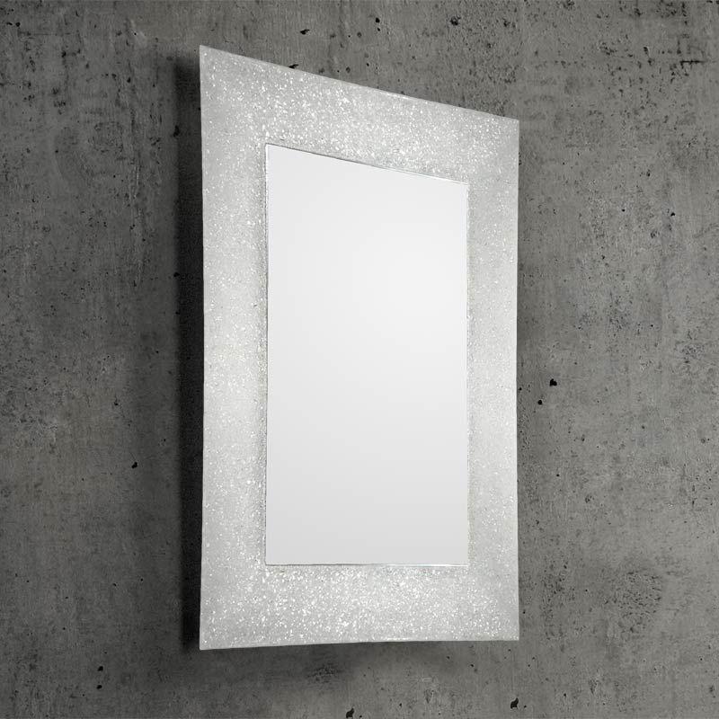 Constance, miroir salle de bain 98x70 cm, verre transparent