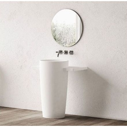 colonne lavabo 90 cm composite nonza. Black Bedroom Furniture Sets. Home Design Ideas