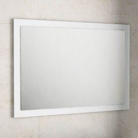 Armoire de toilette finition gris 50 cm toledo for Miroir cadre blanc