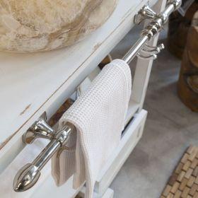 Porte serviettes 68 cm en laiton chromé, Boma