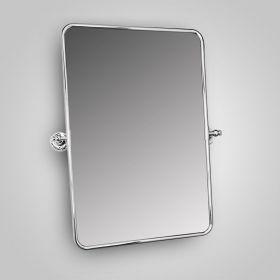 Miroir rectangulaire en laiton chromé, 51x75 cm, The Club