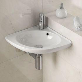 Lave-mains d'angle suspendu en céramique, Melodie
