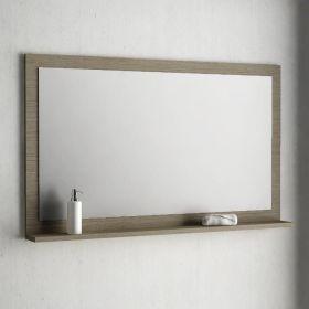 Armoire de toilette finition gris 50 cm toledo for Miroir salle de bain avec etagere