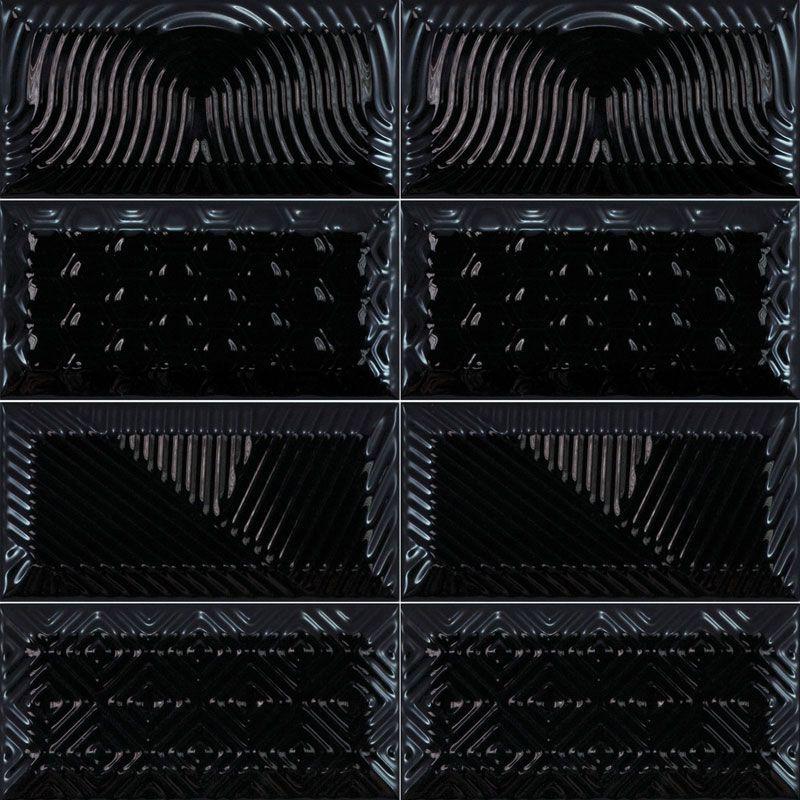 Métro Paradise Black 7.5x15 cm