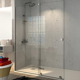 Paroi de douche fixe et coulissante 100, 120 ou 140 cm, Pisa
