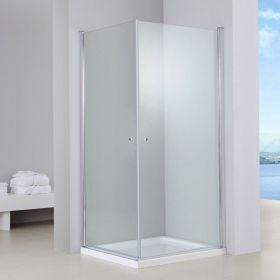 Cabine de douche 2 portes battantes, 80x80cm à 100x100cm, Orense