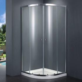 Cabine de douche quart de cercle, 90x90 cm, Malaga