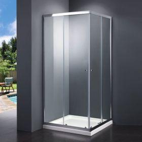 Cabine de douche coulissante, 90x90cm ou 100x100cm, Malaga