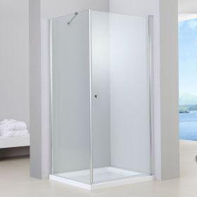 Cabine de douche 1 porte battante, 80x80 cm, Orense