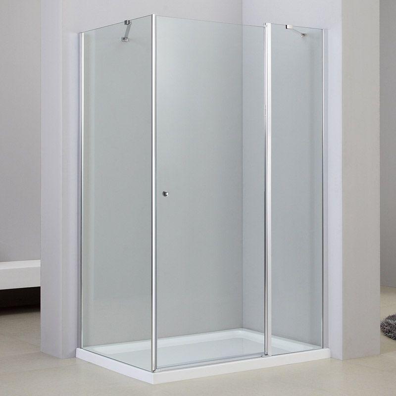 Cabine de douche 1 porte battante, 80x120 cm, Orense