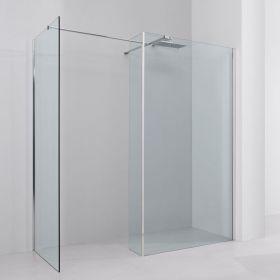 Paroi de douche fixe avec retour, réglable de 150 à 190 x 90cm cm, Altea