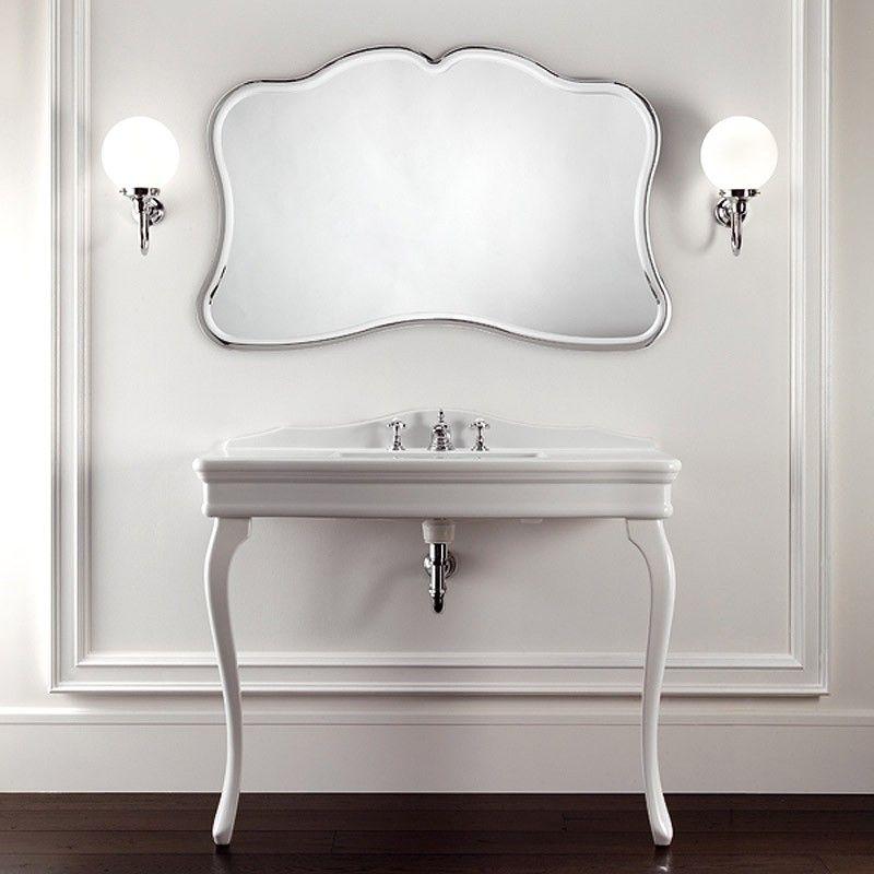 console lavabo colette blanc. Black Bedroom Furniture Sets. Home Design Ideas