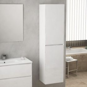 Colonne de rangement Blanc Brillant 174 cm, Essentiel