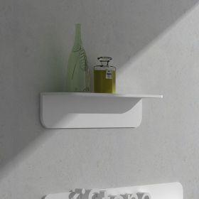 Etagère murale, 60 à 120 cm, blanc mat, Solid surface