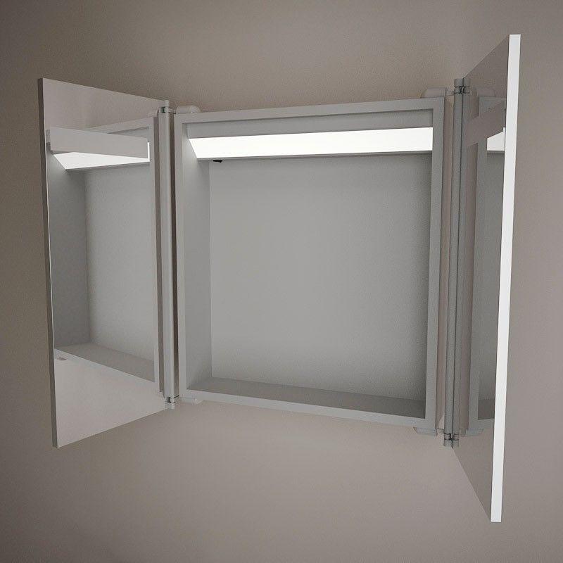armoire de toilette glass 65x60x14 5 cm. Black Bedroom Furniture Sets. Home Design Ideas