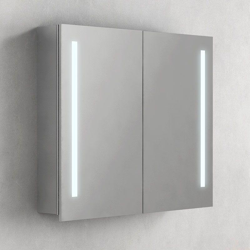 Armoire de toilette éclairante Glass 80 cm