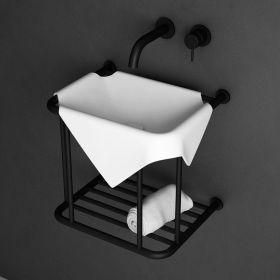 lave-mains Wavelet , composite mineral blanc mat