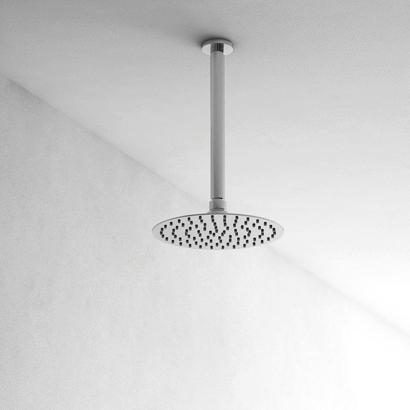 Pommeau de douche Roll, 3 dimensions, et bras de douche plafond 25cm