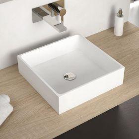 Vasque à poser en résine carrée 40x40 cm, Minéral