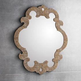 Miroir salle de bain Sophie, 98X85 cm, granité or/ argent