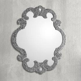 Sophie, miroir salle de bain 98X85 cm, granité argent