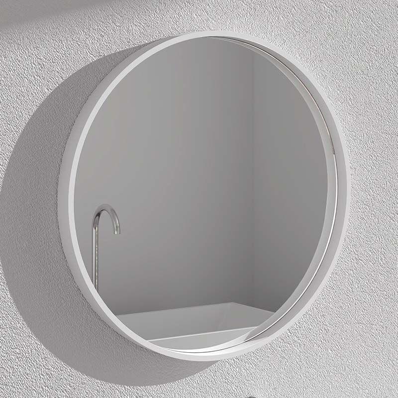 Miroir minéral , diamètre 70 cm, matière composite minérale, Rond