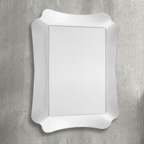 Marine, miroir salle de bain 90x69 cm, blanc ou argenté