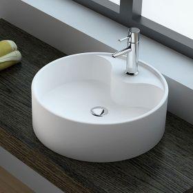 Vasque minéral à poser 45cm