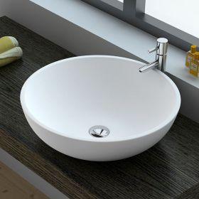 Vasque minéral ronde à poser, 3 dimensions