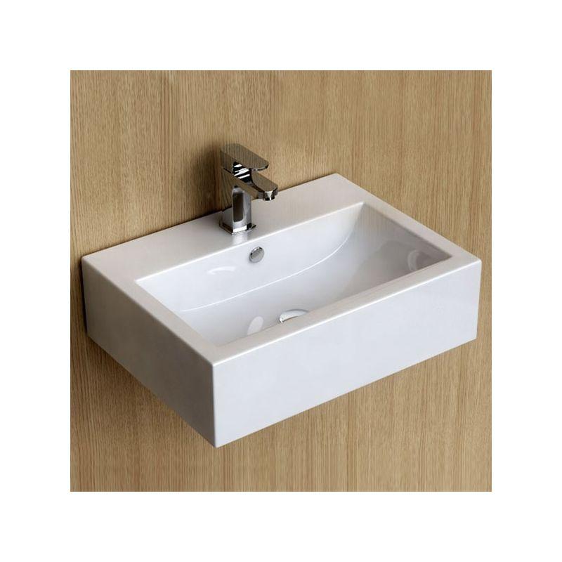Lave-mains suspendu 54x40 cm, céramique, Pure
