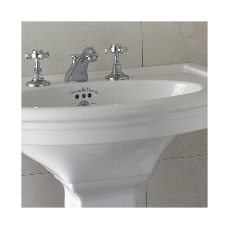Lavabo et colonne new etoile for Toile salle de bain
