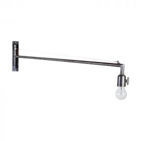 Applique industrielle et ampoule ronde transparente