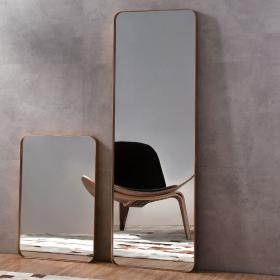 Miroir à poser en métal doré, H150 x l50 cm, Frame