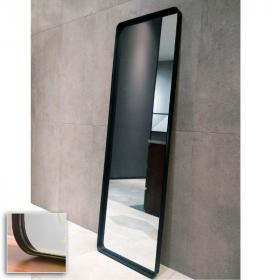 Miroir à poser en métal noir mat, H150 x l50 cm, Frame
