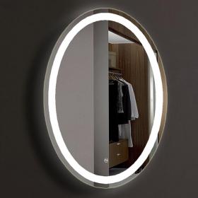 Miroir lumineux avec éclairage LED, 80x60 cm, Oval