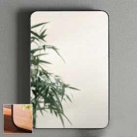 Miroir rectangulaire en métal noir mat, 50x75 cm, Frame
