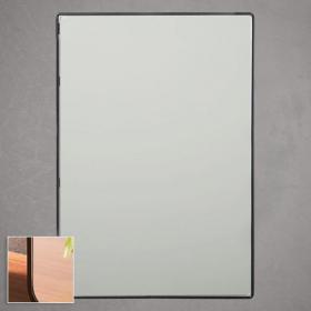 Miroir rectangulaire en métal noir mat, l60 x H80 cm, Frame