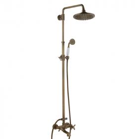 Colonne de douche avec bec verseur, finition bronze, Antic
