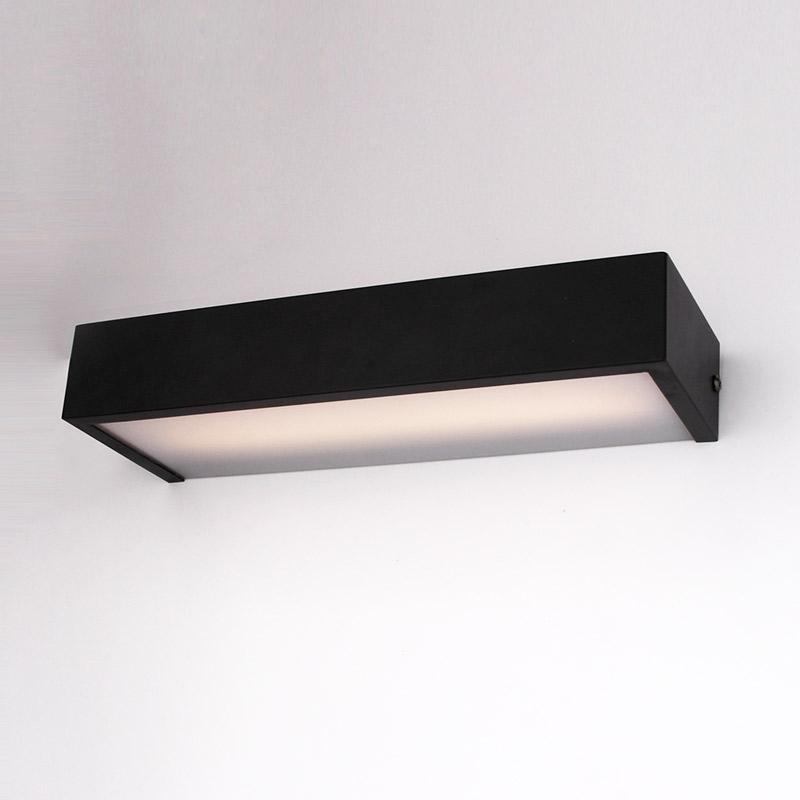 Applique box LED 50 cm, noir mat, Qube