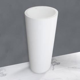 Lavabo à poser blanc, 46,5 x 85 cm, Solid Surface, Onix