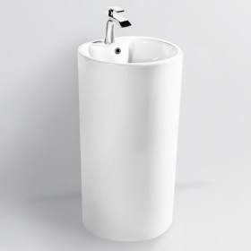 Lavabo à poser 81x45 cm, plage de robinetterie, céramique, Calla