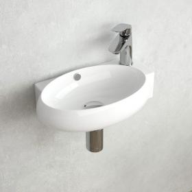 Lave-mains droite ou gauche, 42,5x26,5 cm, Pure