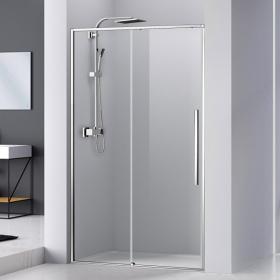 Porte de douche coulissante 100 à 140 cm, chromé, Arena