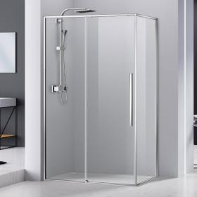 Cabine de douche coulissante 100 à 140cm, chromé, Arena