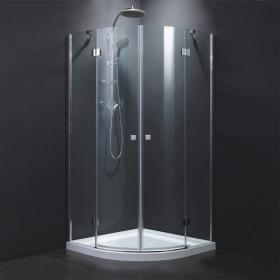 Cabine de douche quart de rond, 90x90 cm, portes battantes, Open