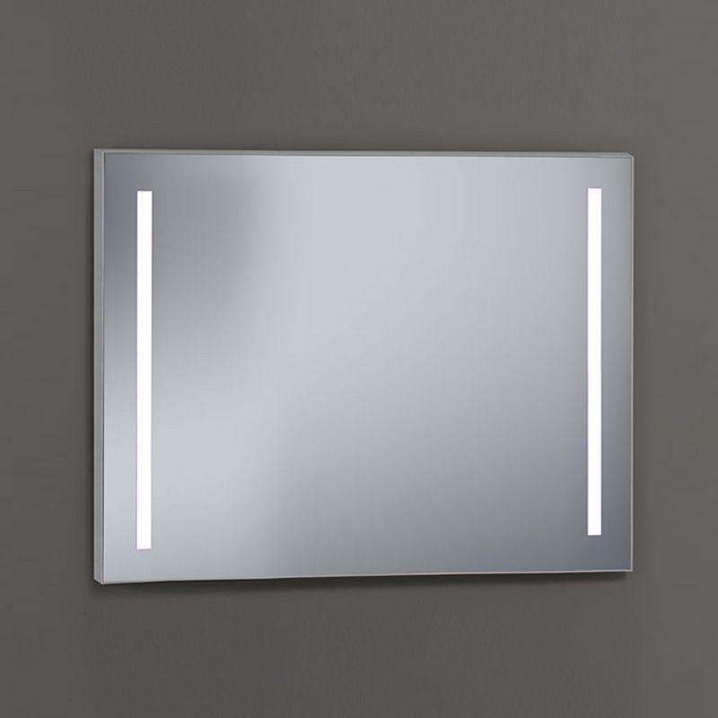 Miroir lumineux LED salle de bain, 100x80 cm, Cadier