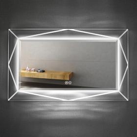 Miroir lumineux LED rectangulaire, 100x60 cm, Art