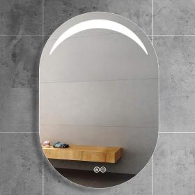 Miroir lumineux LED ovale, 60x80 cm, Luna60